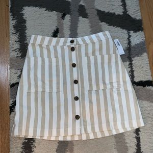 old navy striped skirt